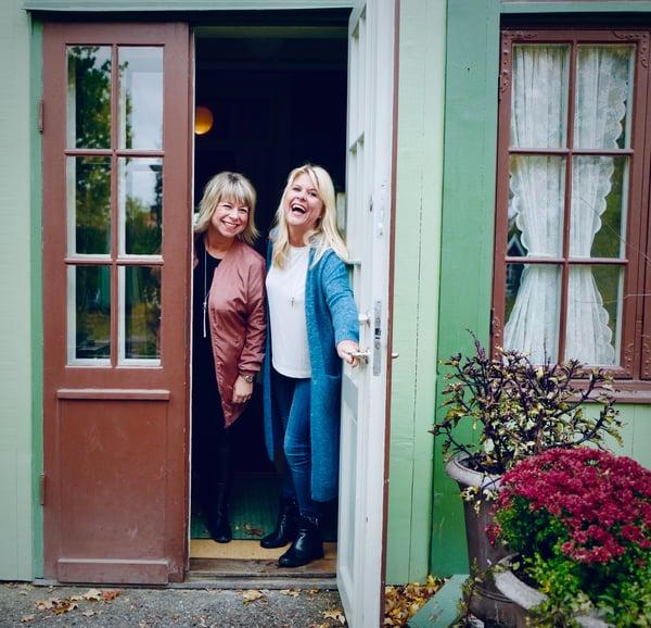 Cecilia Lögdberg och Sofia Damgaard på Herrängens Gård